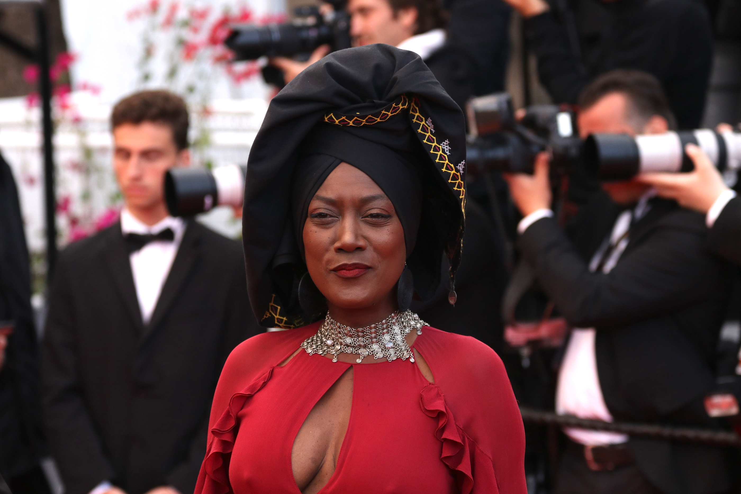 Cannes 2018: Khadja Nin sul red carpet di Blackkklansman