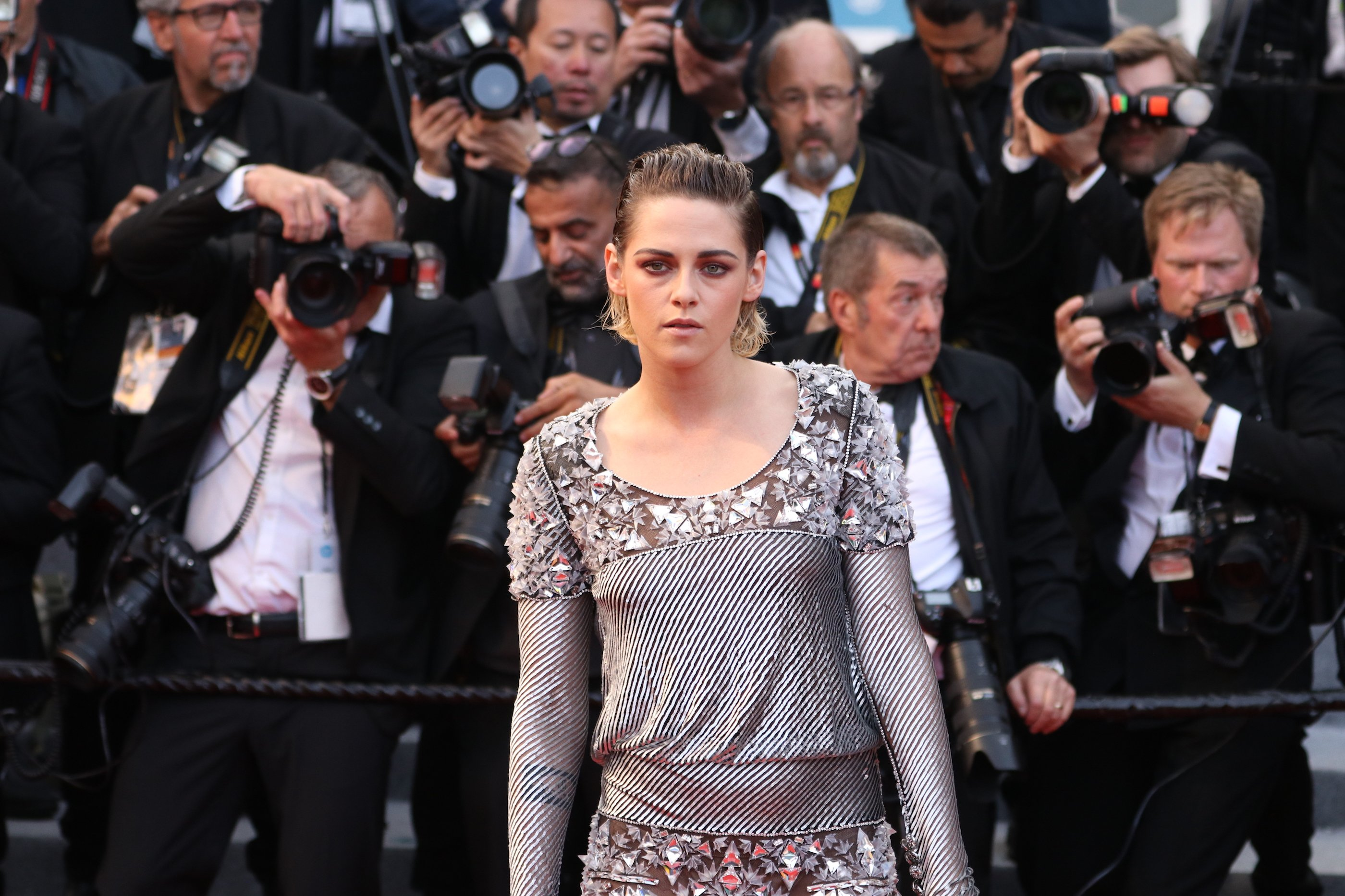 Cannes 2018: uno scatto di Kristen Stewart sul red carpet di Blackkklansman