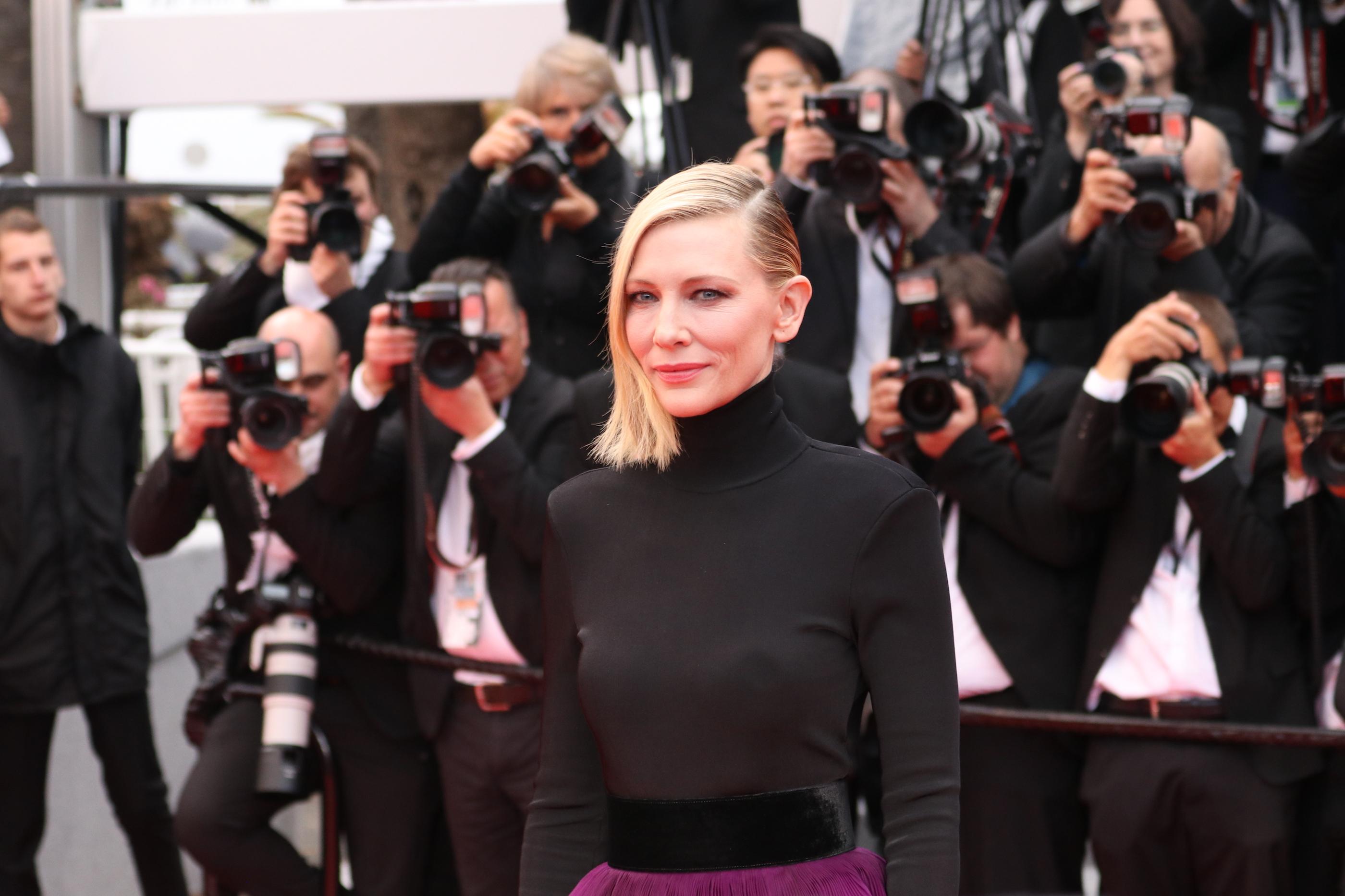 Cannes 2018: il presidente di giuria Cate Blanchett sul red carpet di Blackkklansman