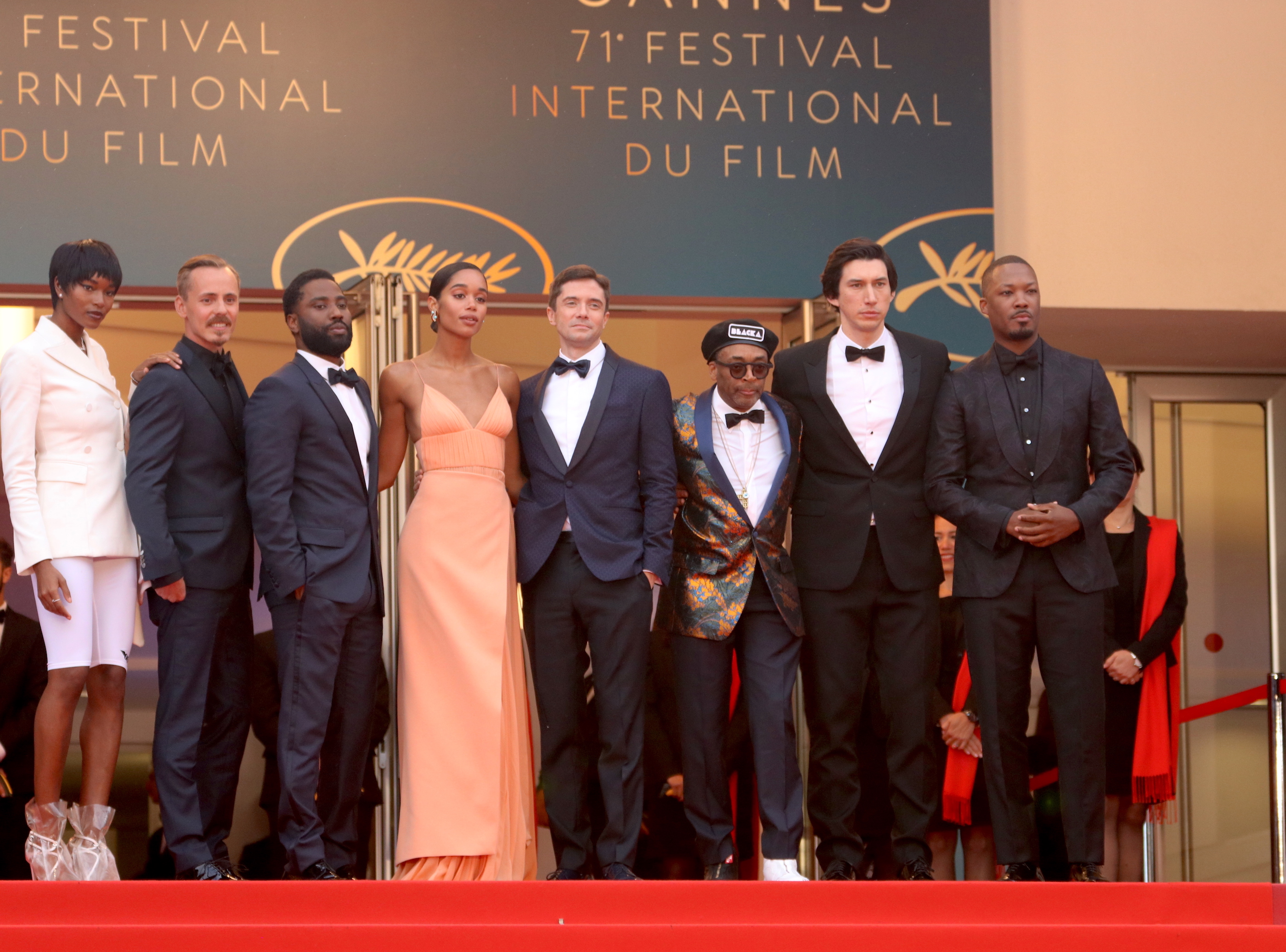 Cannes 2018: il cast sul red carpet di Blackkklansman
