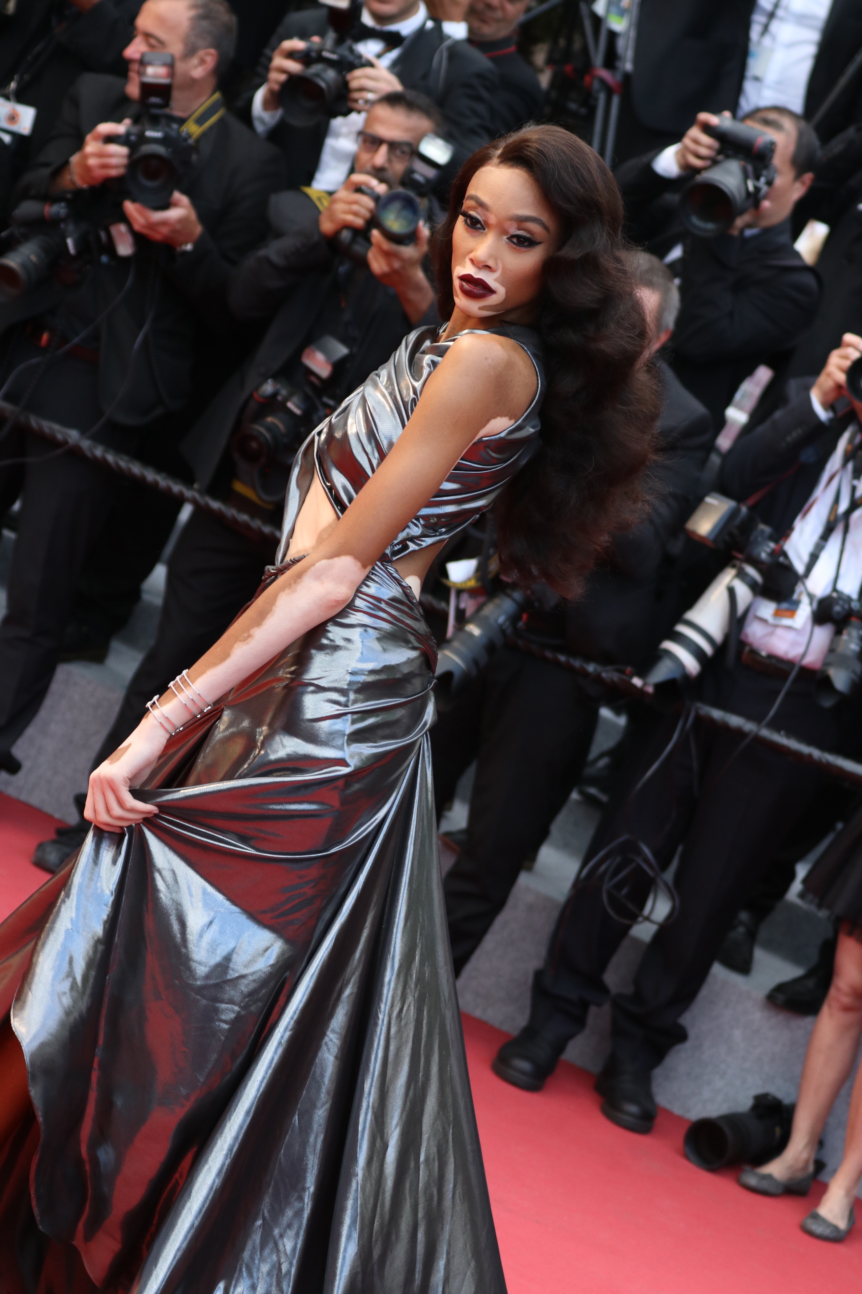 Cannes 2018: Winnie Harlow sul red carpet di Solo: A Star Wars Story