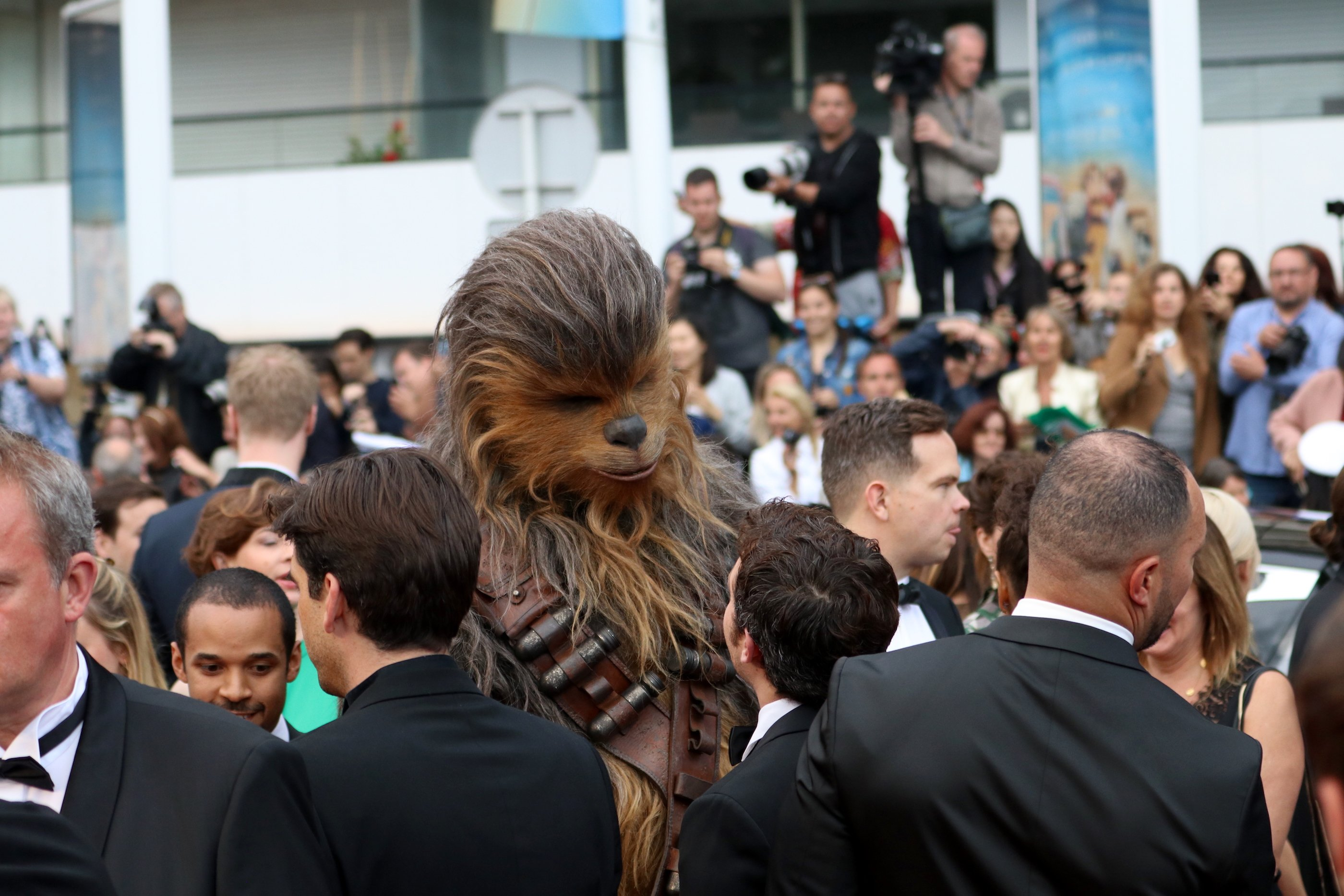 Cannes 2018: Chawbacca prima di entrare sul red carpet di Solo: A Star Wars Story