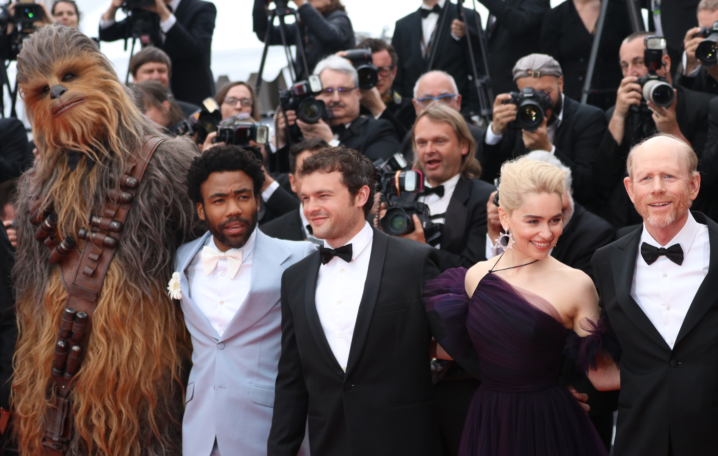 Cannes 2018: il cast sul red carpet di Solo: A Star Wars Story