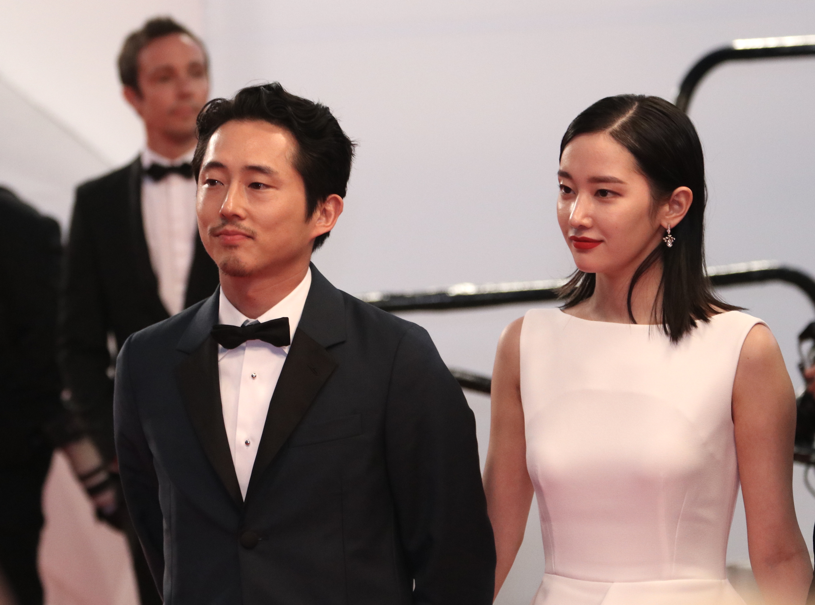 Cannes 2018: una foto di Steven yeun sul red carpet di Burning