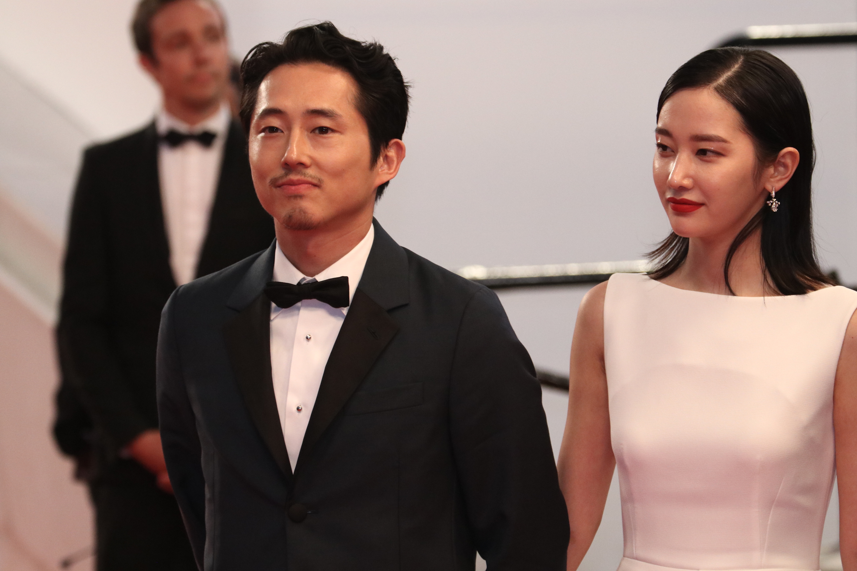 Cannes 2018: uno scatto di Steven Yeun sul red carpet di Burning