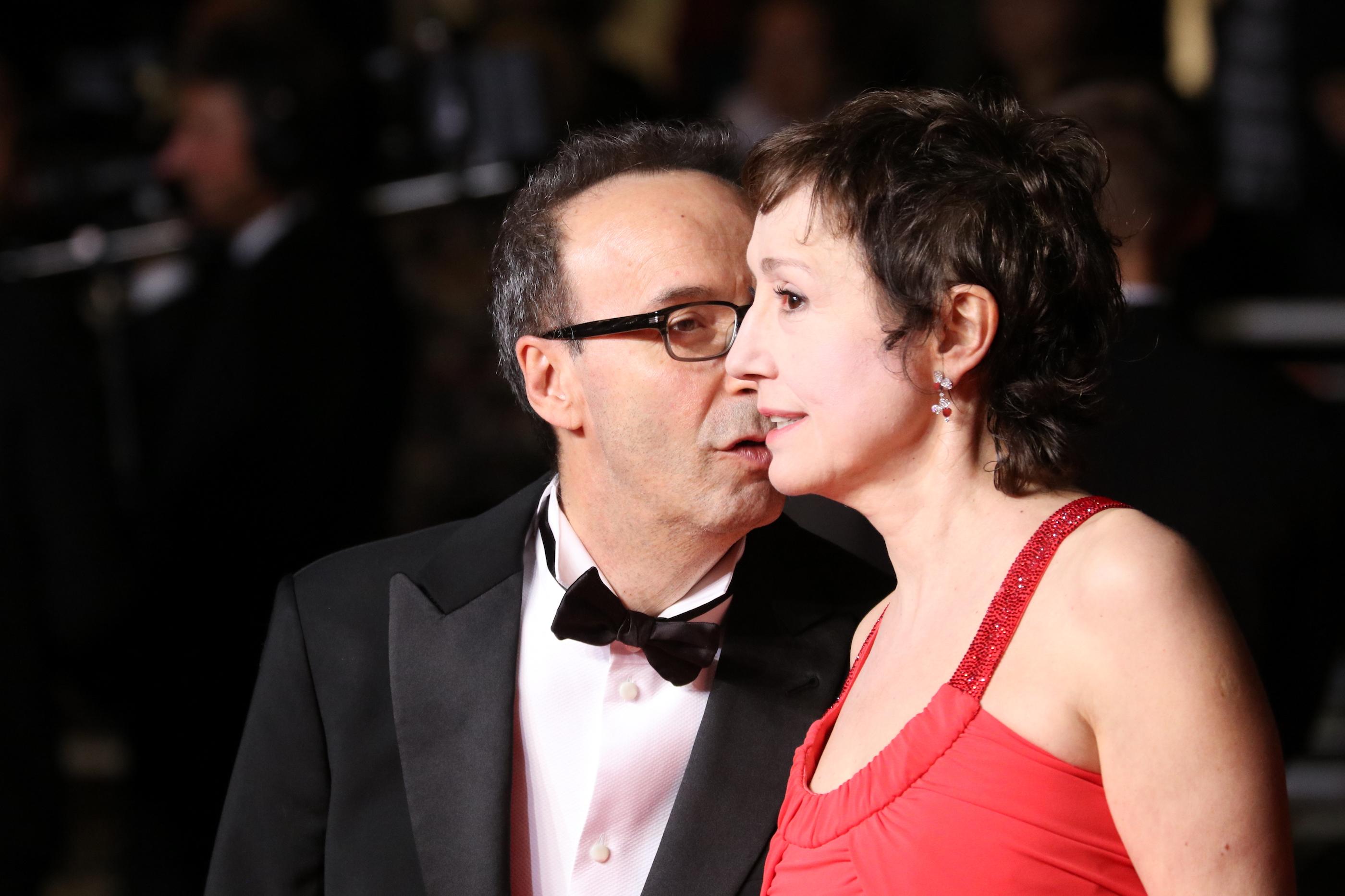 Cannes 2018: uno scatto di Roberto Benigni e Nicoletta Braschi sul red carpet di Dogman