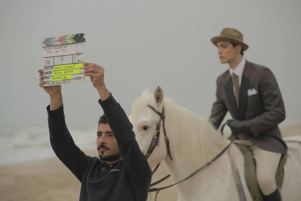 Rudy Valentino: Pietro Masotti in un'immagine dal set del film