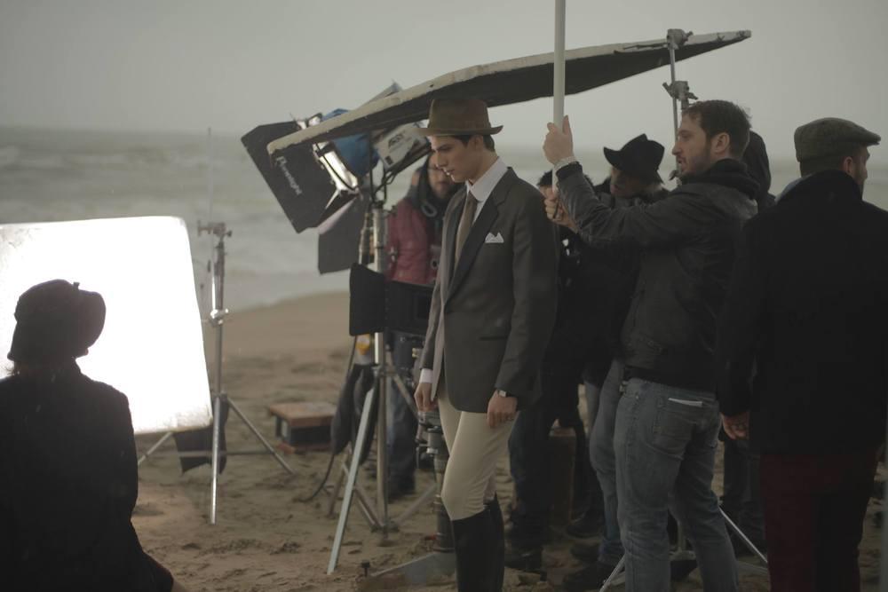 Rudy Valentino: Pietro Masotti sul set del film
