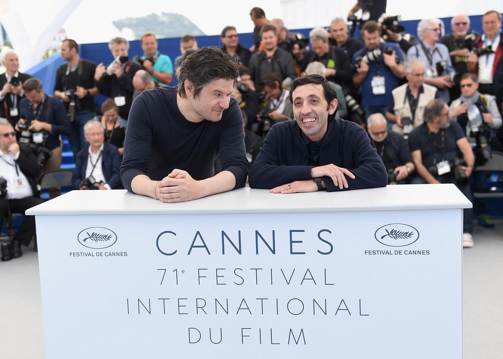 Marcello Fonte con Edoardo Pesce a Cannes 2018 per Dogman