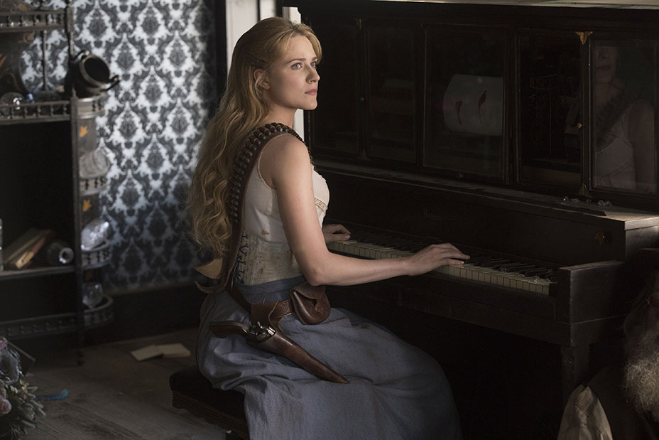 Westworld: Evan Rachel Wood in una scena dell'episodio Phase Space