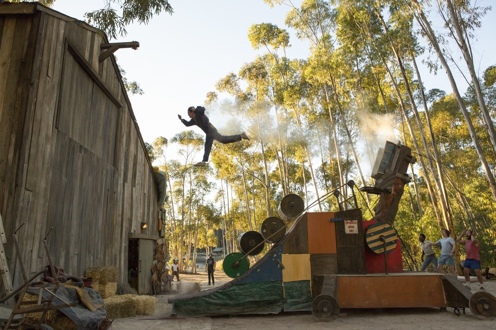 Action Point: Johnny Knoxville in una scena del film