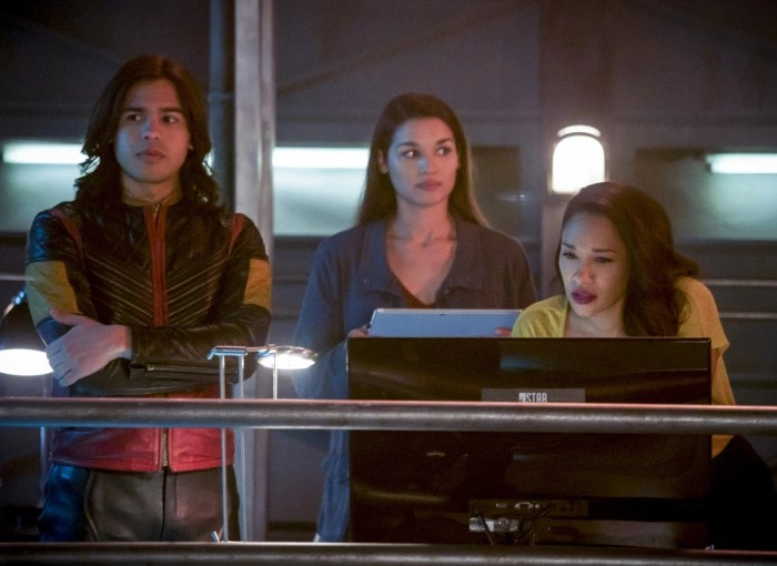 The Flash: Kim Engelbrecht, Candice Patton, e Carlos Valdes nell'episodio We Are the Flash