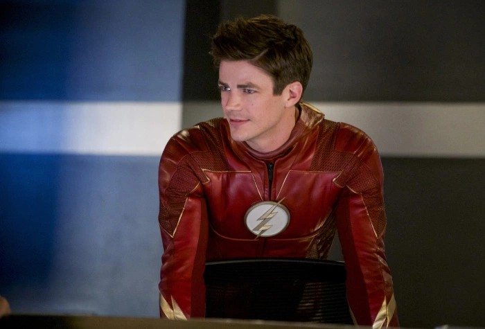 The Flash: Grant Gustin in una scena dell'episodio We Are the Flash