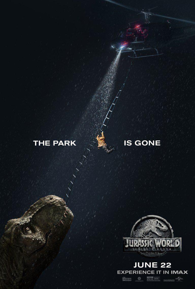 Jurassic World: Il Regno Distrutto, il poster della versione IMAX
