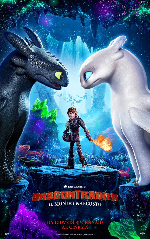 Dragon Trainer 3 - Il Mondo Nascosto: il poster italiano del film