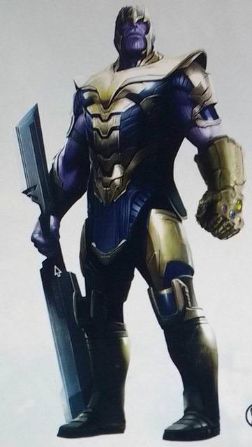 Avengers 4: un concept art dedicato a Thanos