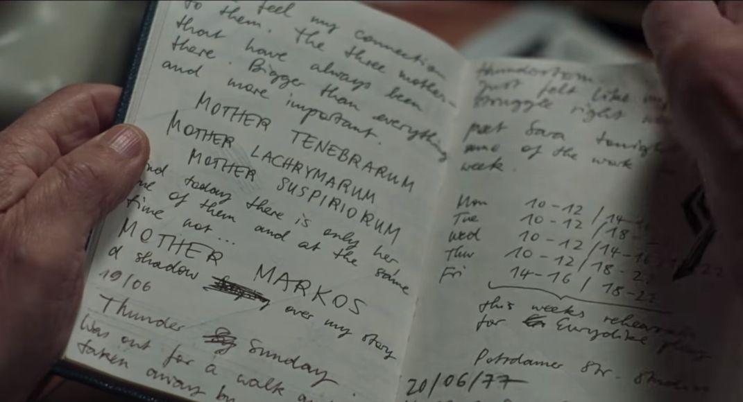 Suspiria e le Tre Madri:  una immagine dal trailer del remake di Guadagnino