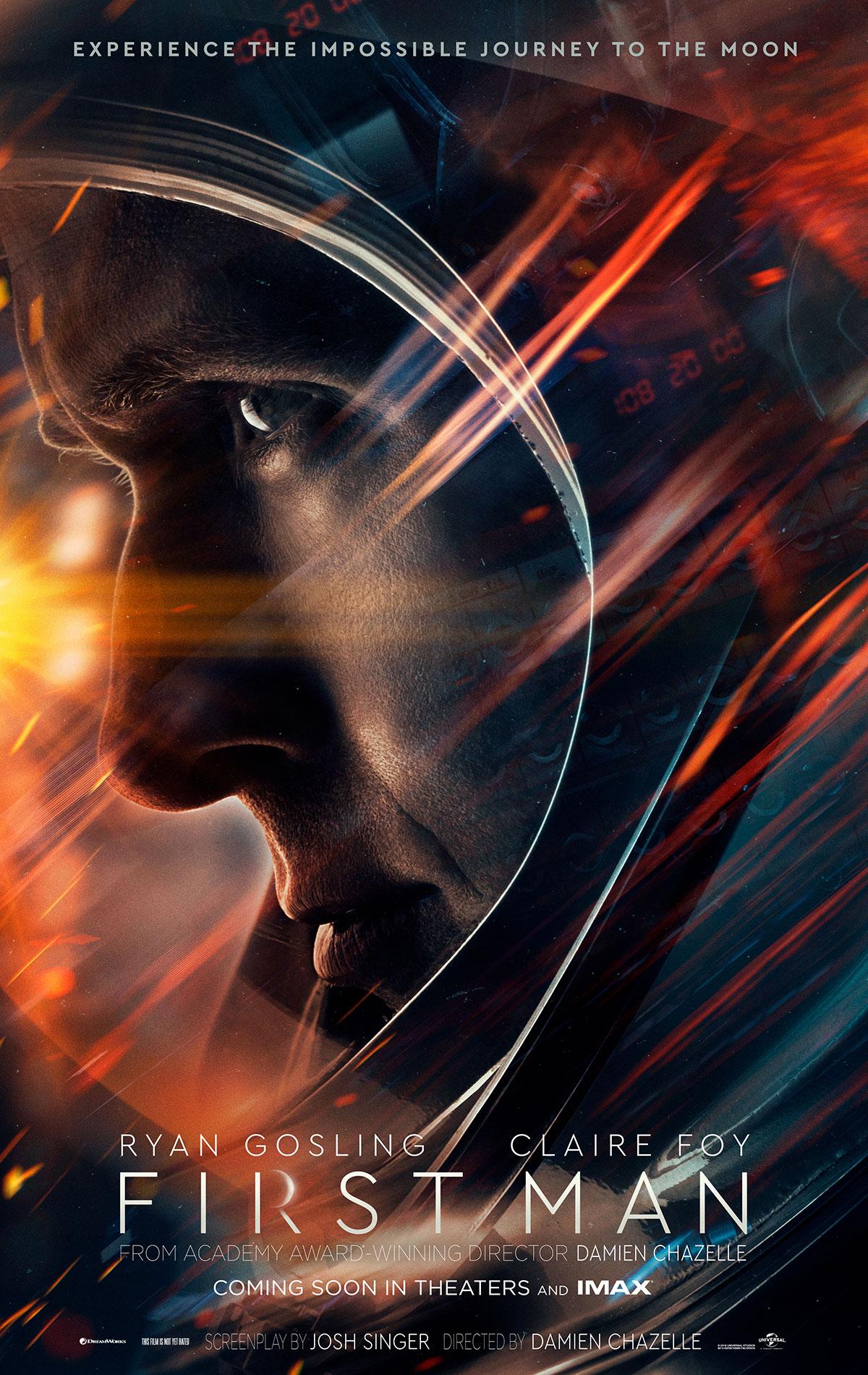 First Man: il poster del film con Ryan Gosling