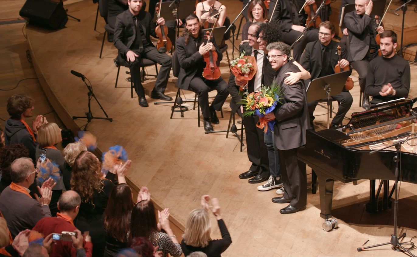 Giovanni Allevi - Equilibrium: The Film Concert, Allevi in un'immagine tratta dal film