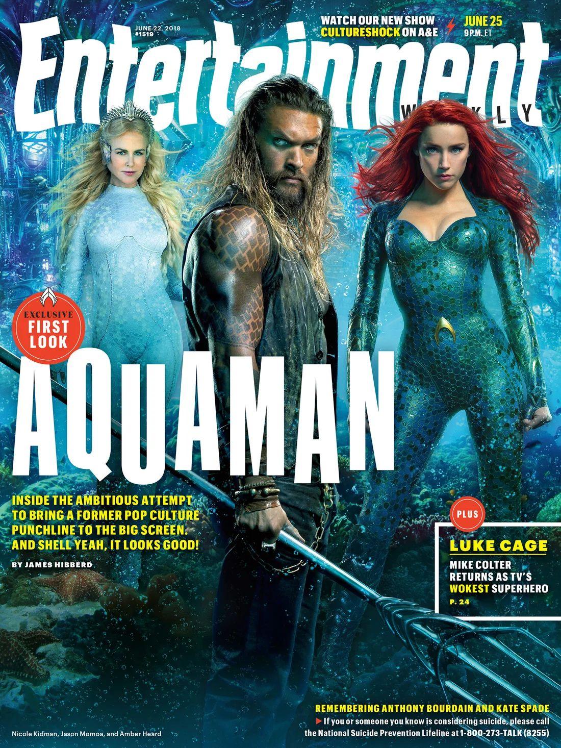 Aquaman: i protagonisti sulla copertina di Entertainment Weekly