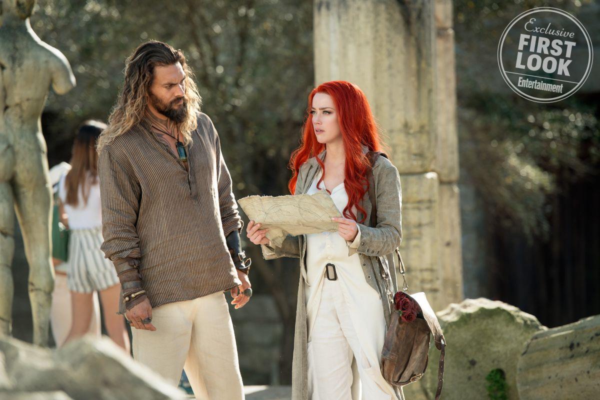 Aquaman: Amber Heard e Jason Momoa in una foto del film