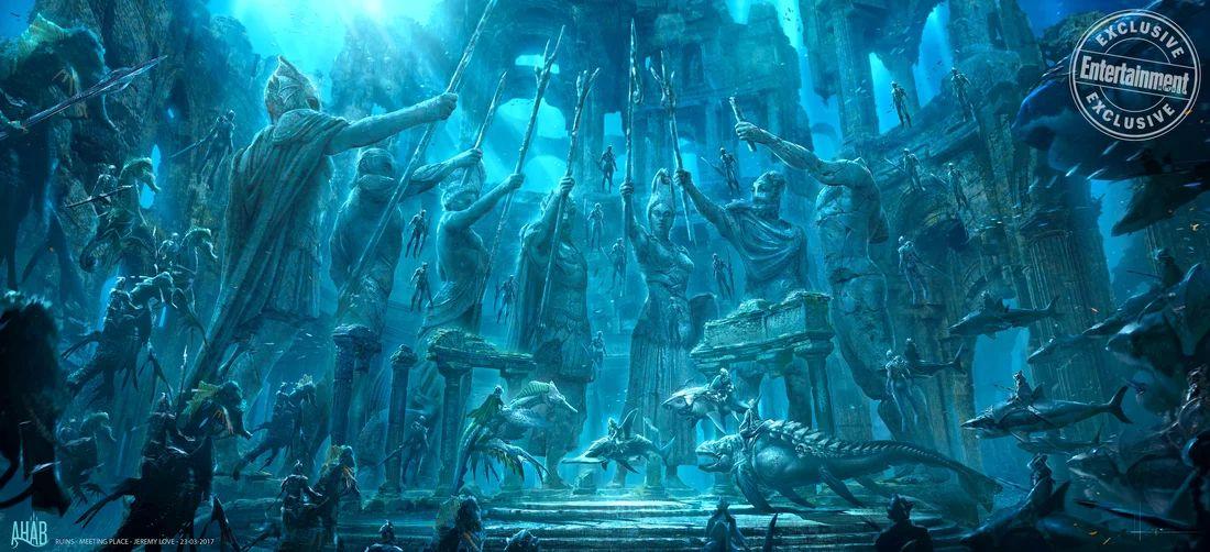 Aquaman: un concept art del film