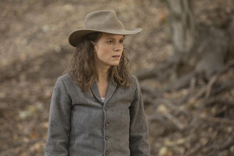 Westworld: Katja Herbers in una scena dell'episodio Vanishing Point