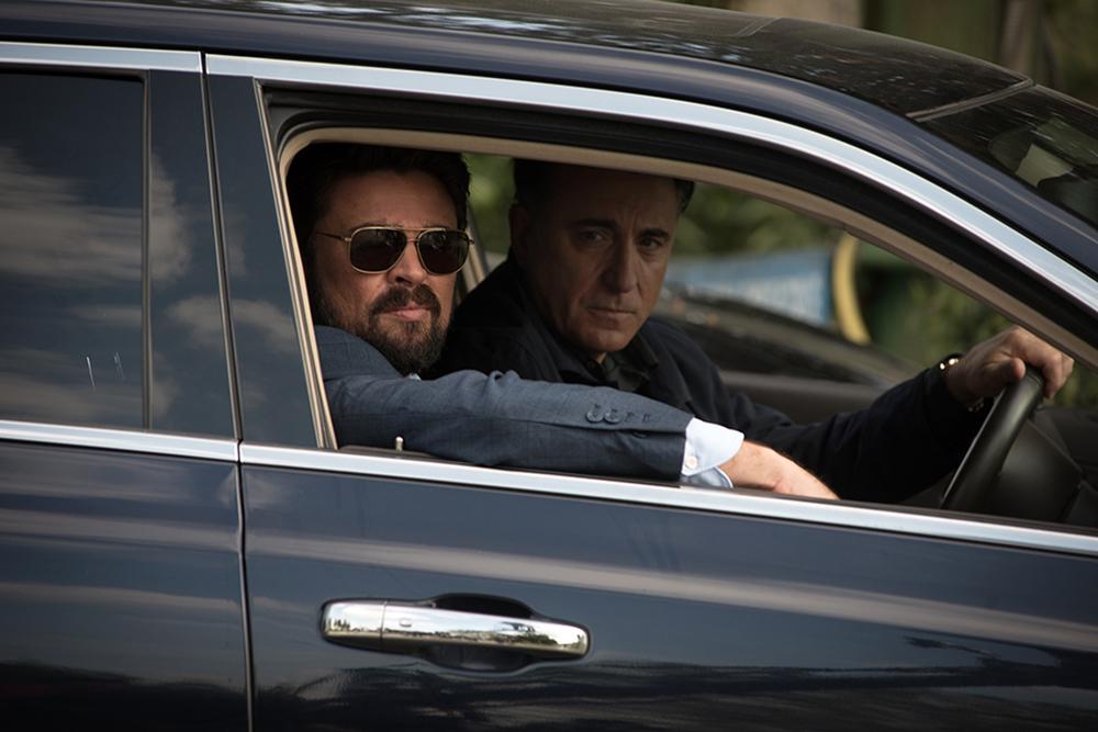 Bent - Polizia criminale: Karl Urban e Andy Garcia in una scena del film