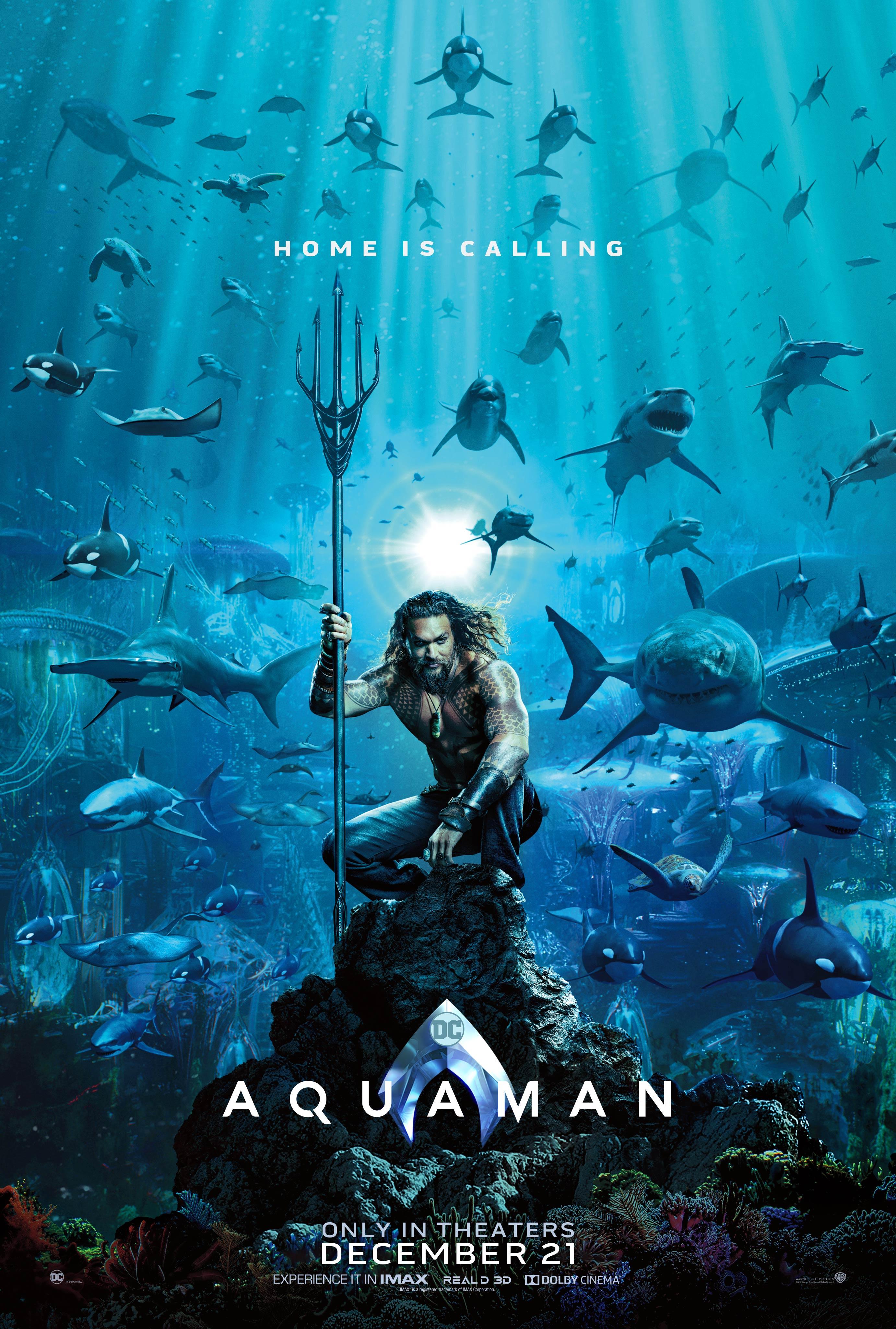 Aquaman: il poster del film diretto da James Wan