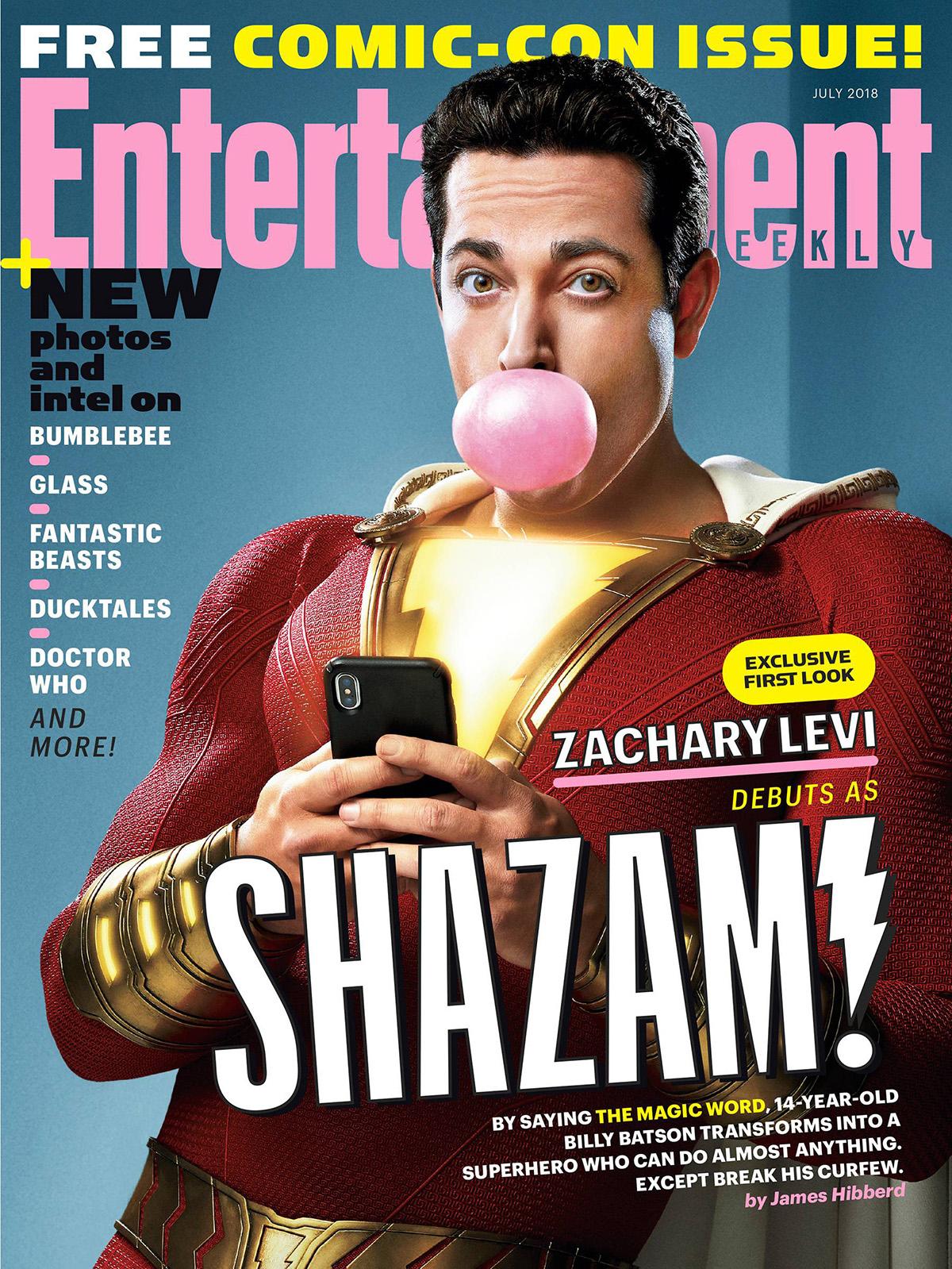 Shazam: Zachary Levi nella cover di EW