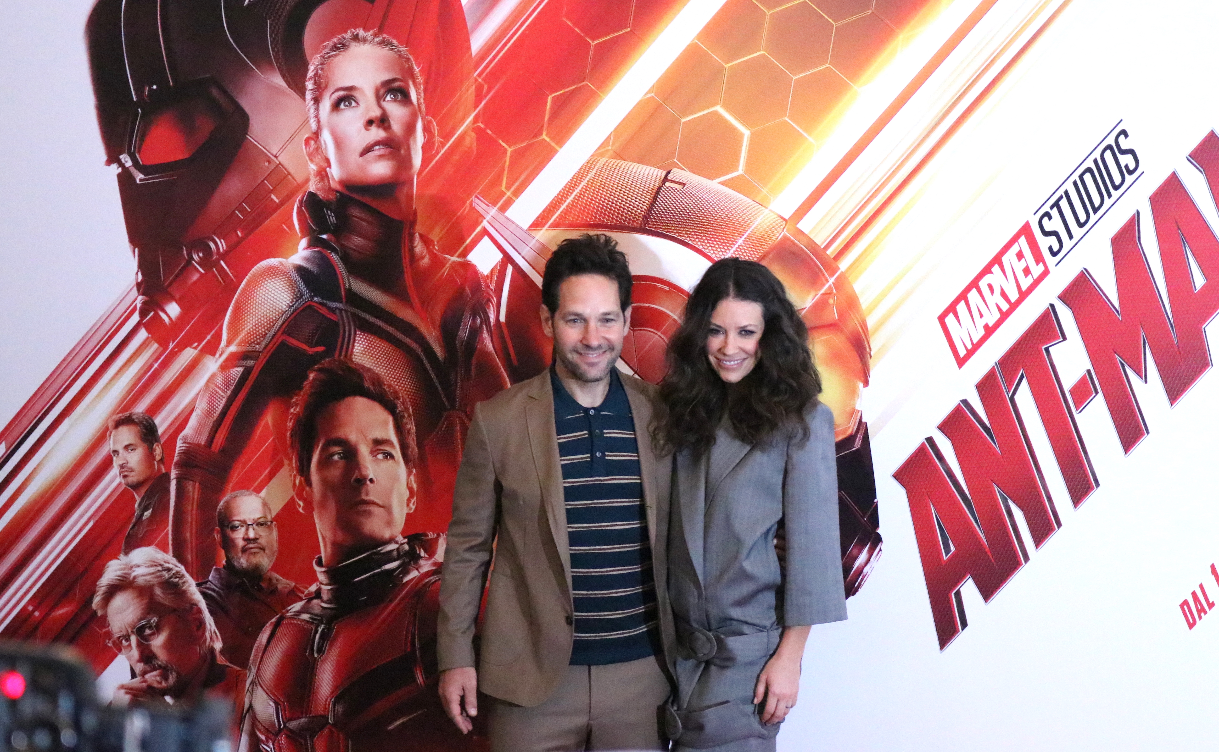 Ant-Man and the Wasp: Paul Rudd ed Evangeline Lilly al photocall