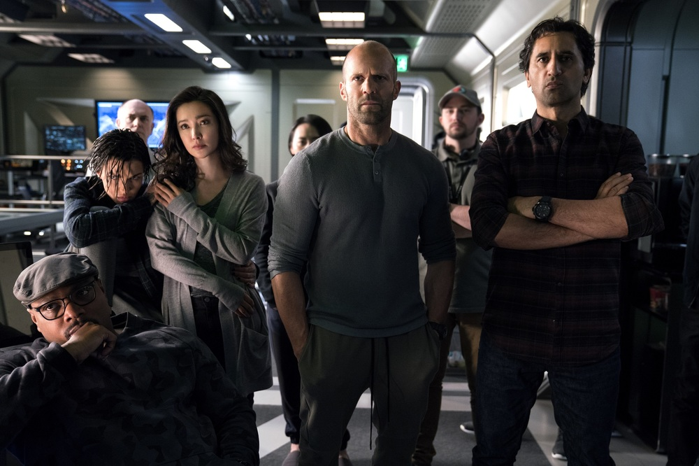 Shark - Il primo squalo: Jason Statham, Cliff Curtis, Li Binbing, Ruby Rose e Page Kennedy in un'immagine del film