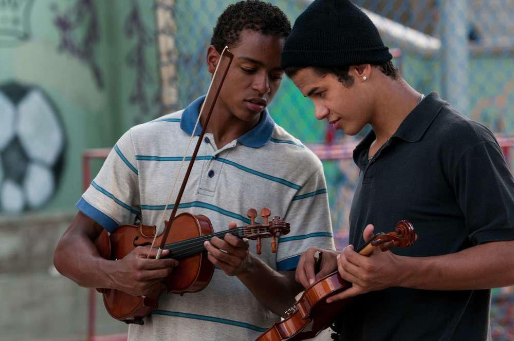 Il maestro di violino: un momento del film