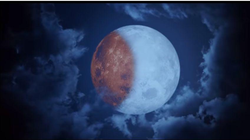 Hellboy: l'eclissi di luna in una scena del film