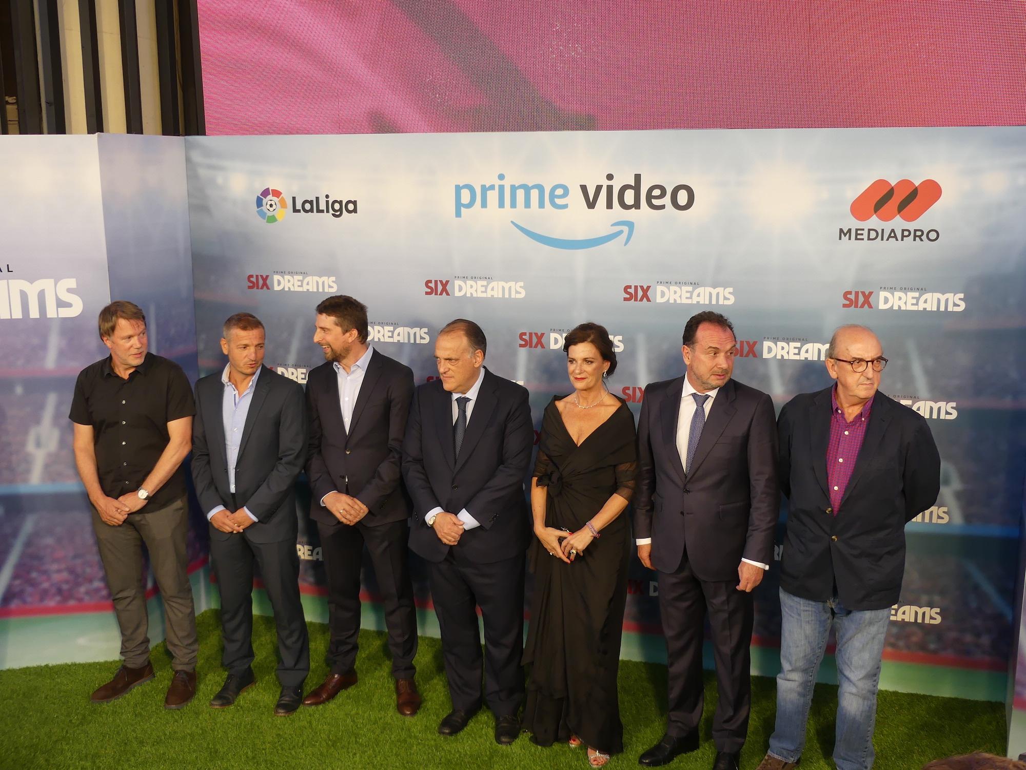 Six Dreams: I realizzatori alla Premiere a Madrid della docu-serie Amazon