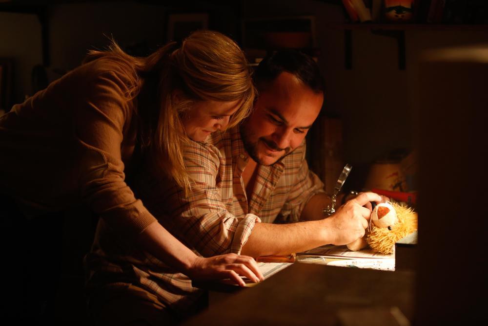 Come ho incontrato mio padre: Isabelle Carré e François-Xavier Demaison in una scena del film