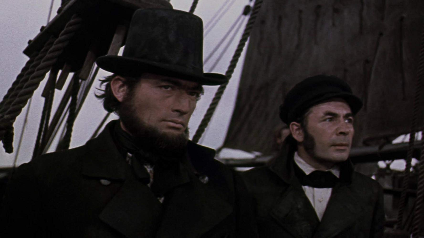 Moby Dick la balena bianca: Gregory Peck in una scena del film