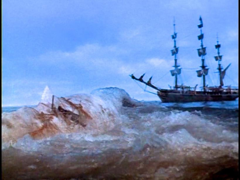 Moby Dick la balena bianca: una scena del film