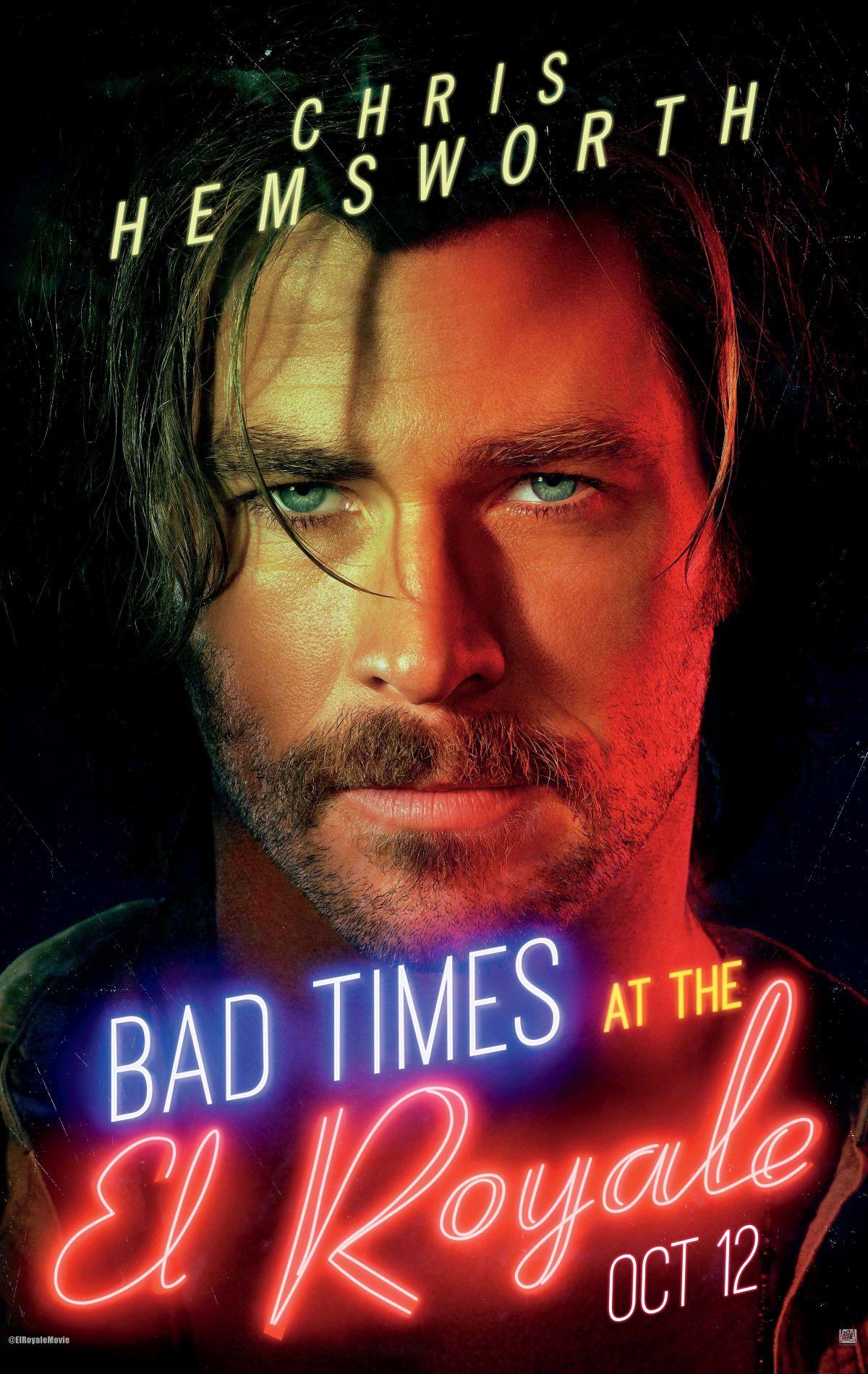 7 Sconosciuti a El Royale: il character poster di Chris Hemsworth