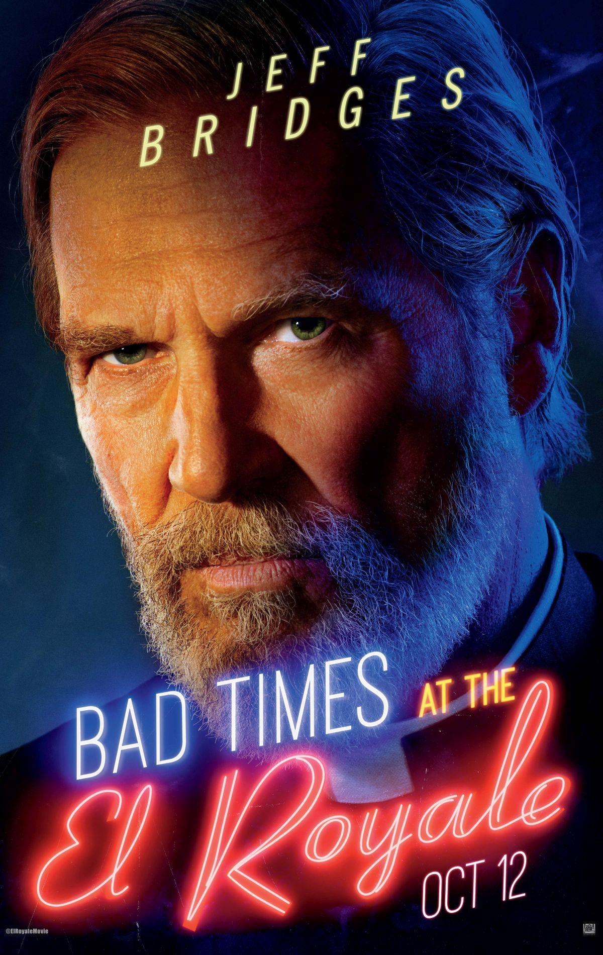7 Sconosciuti a El Royale: il character poster di Jeff Bridges