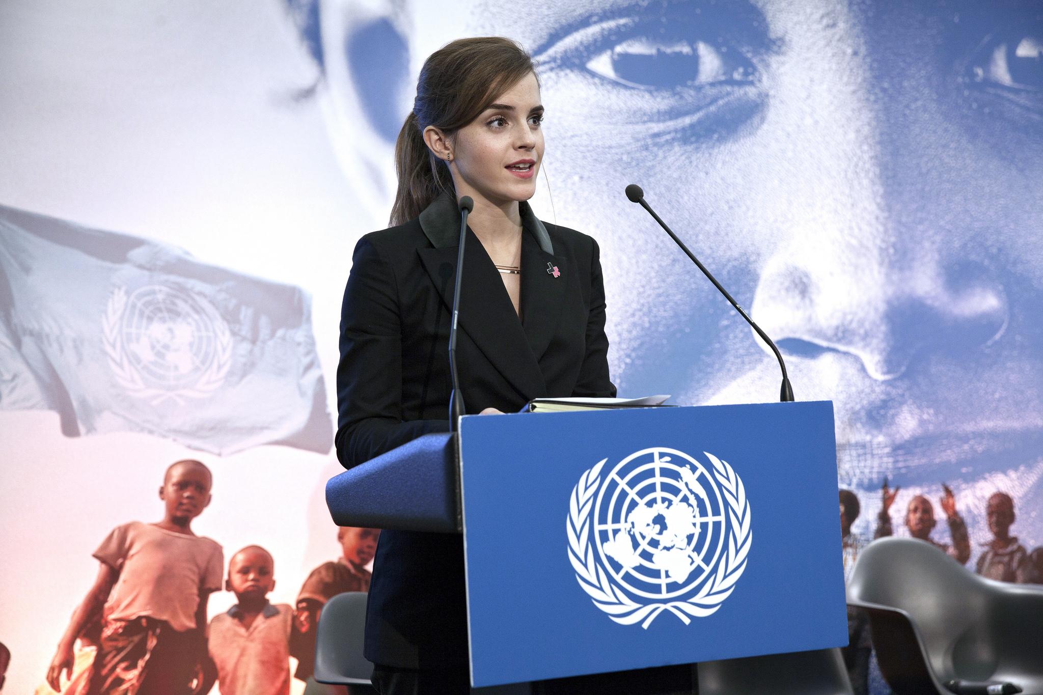 Emma Watson durante un discorso