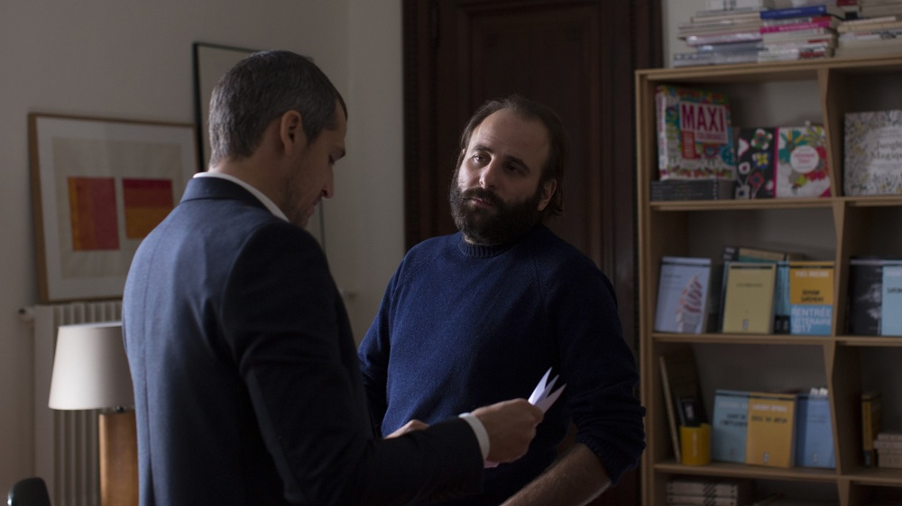 Non-Fiction: Guillaume Canet e Vincent Macaigne in una scena del film