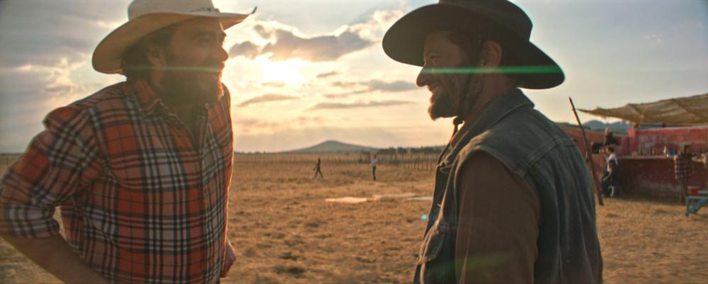 Nuestro tiempo: Phil Burgers e Carlos Reygadas in un momento del film