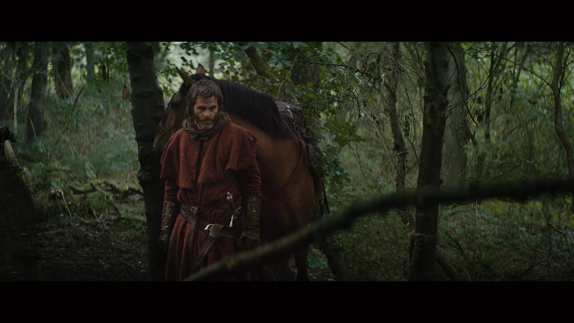 Outlaw King: il protagonista Chris Pine in una foto del film
