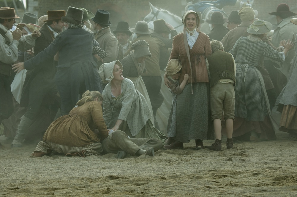 Peterloo: un'immagine del film