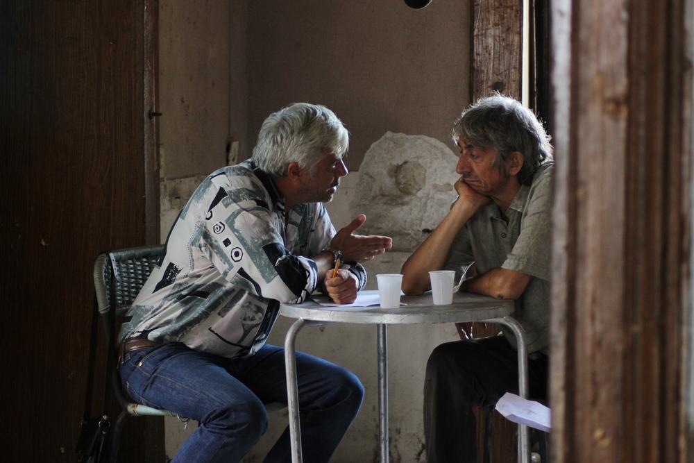 Il bene mio: Dino Abbrescia e Sergio Rubini in una scena del film