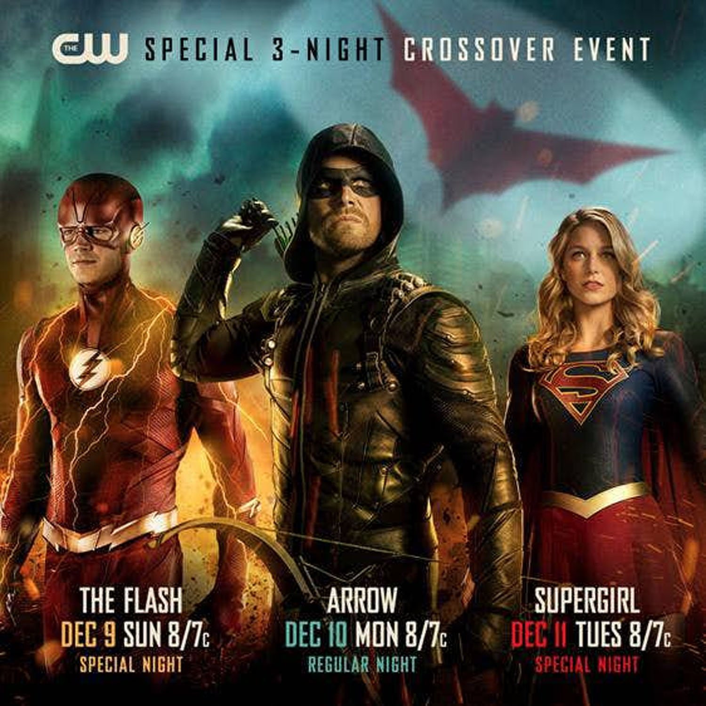 Arrow, The Flash, Supergirl: la locandina del crossover 2018