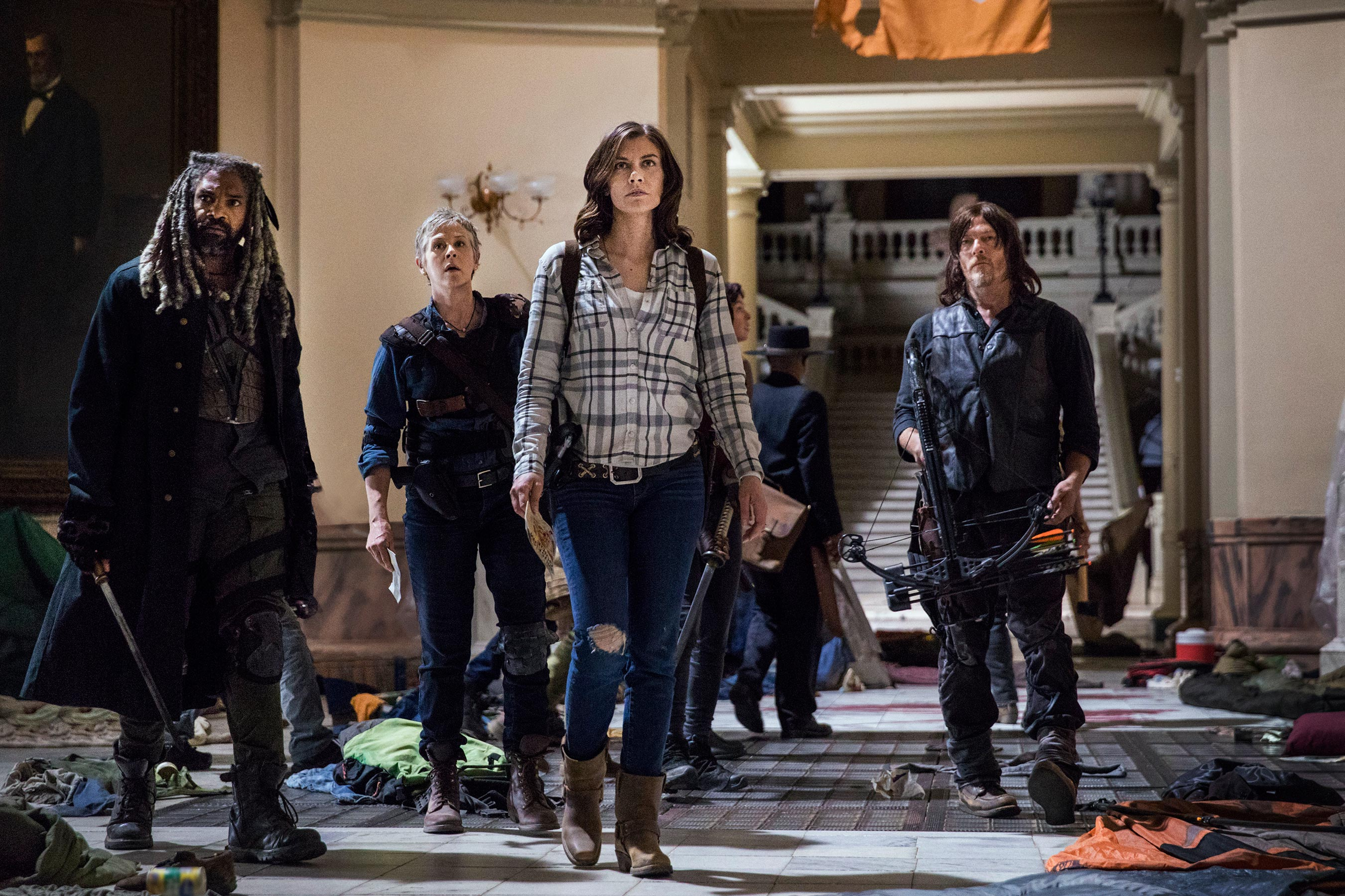 The Walking Dead: Lauren Cohan, Norman Reedus, Melissa McBride e Khary Payton