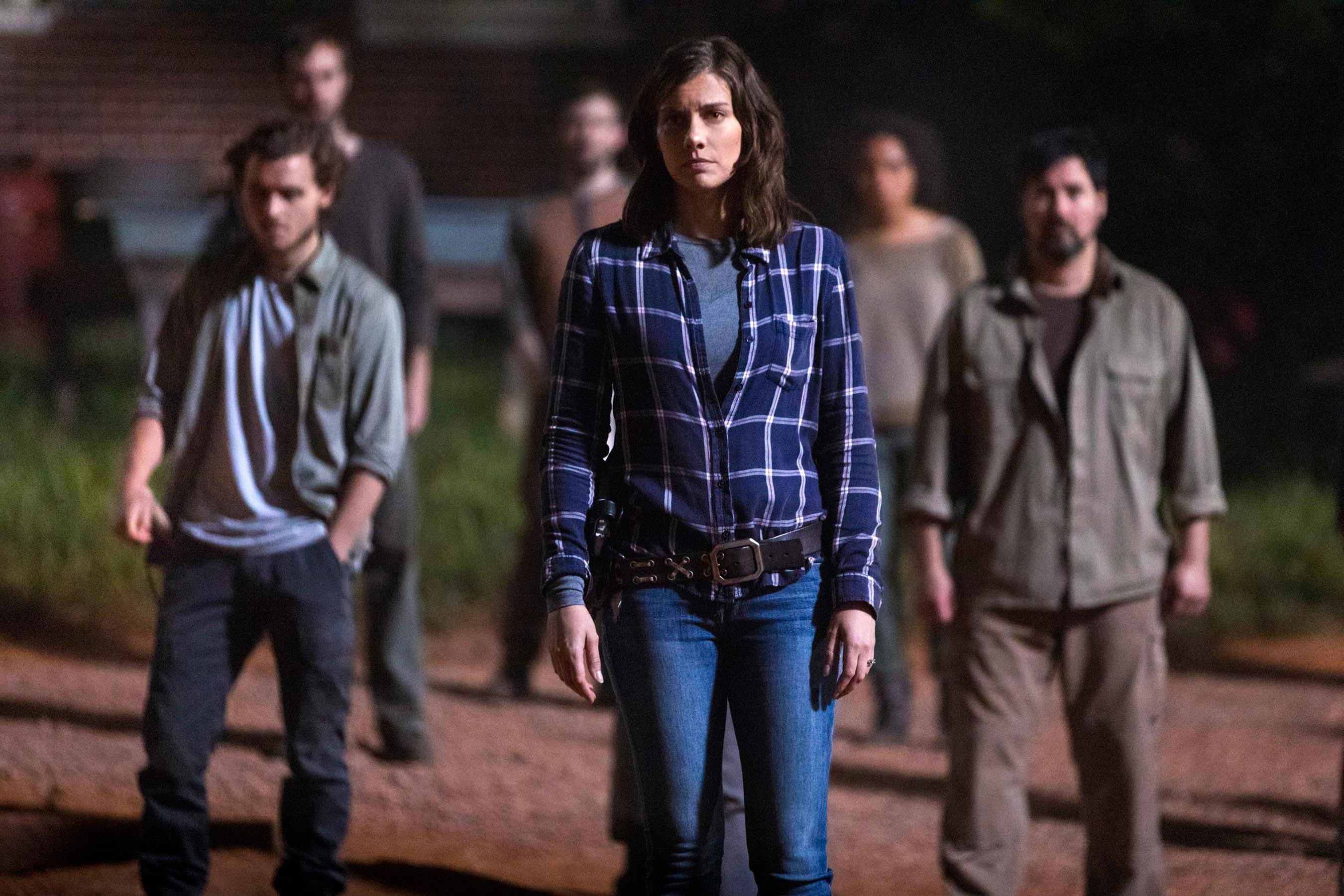 The Walking Dead: Lauren Cohan in una scena corale