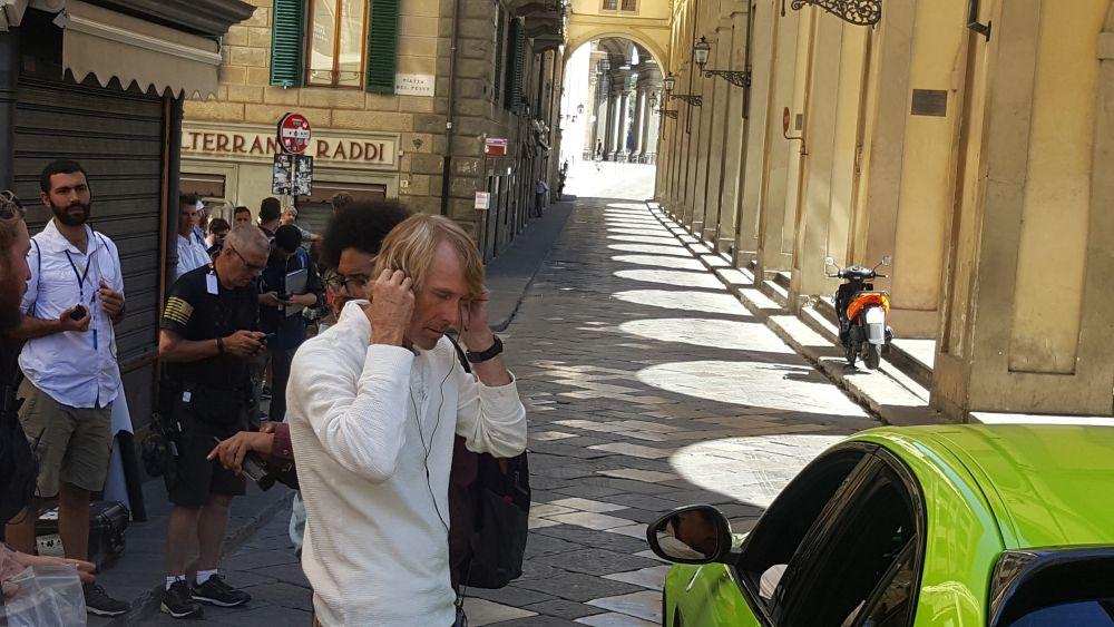 Six Underground, Michael Bay sul set a Firenze